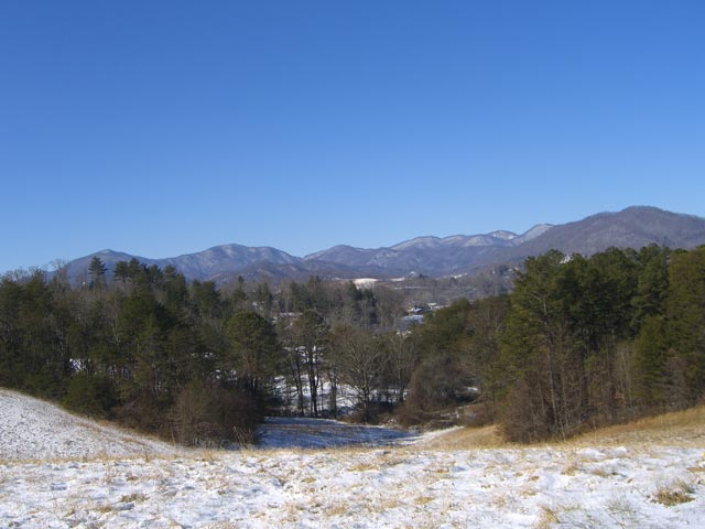 Our first Asheville snowfall in January 2007