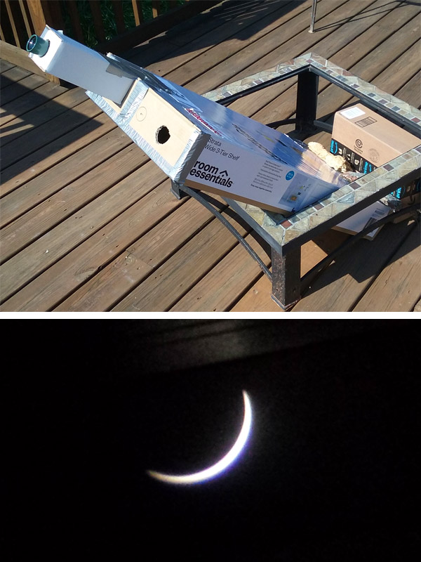DIY solar eclipse box viewer (projector)