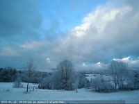 waking to overnight snowfall timelapse webcam